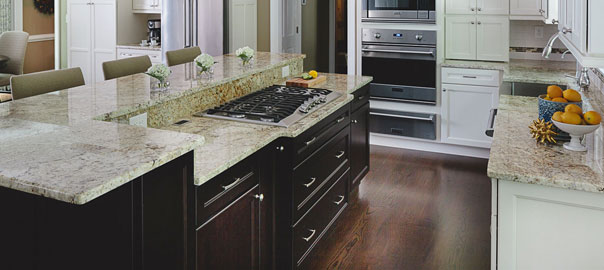 Benefits of a two level kitchen island atlanta design for Two level kitchen island