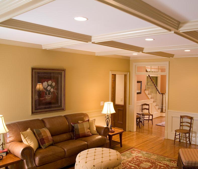 coffered ceiling trends in living room