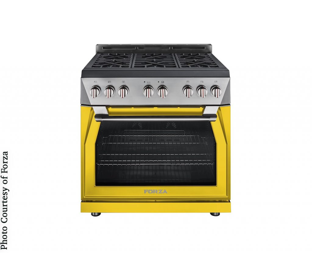Forza statement stove in color trend yellow