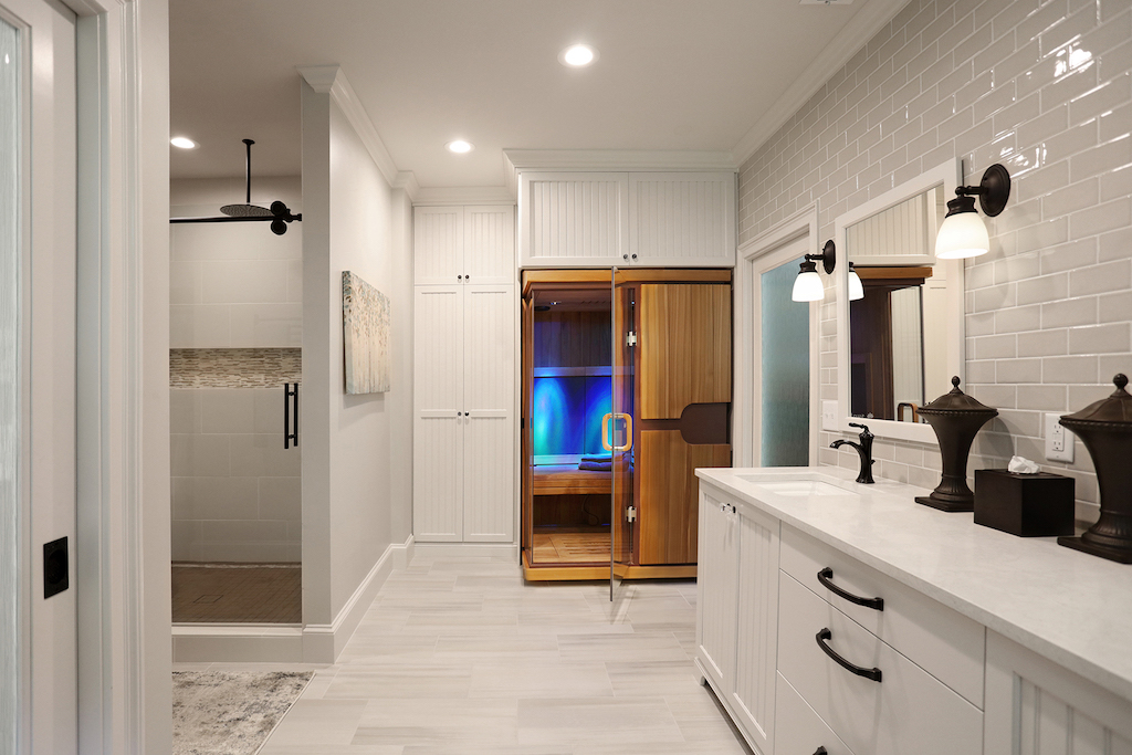 2020 NARI Residential CotY bathroom with sauna