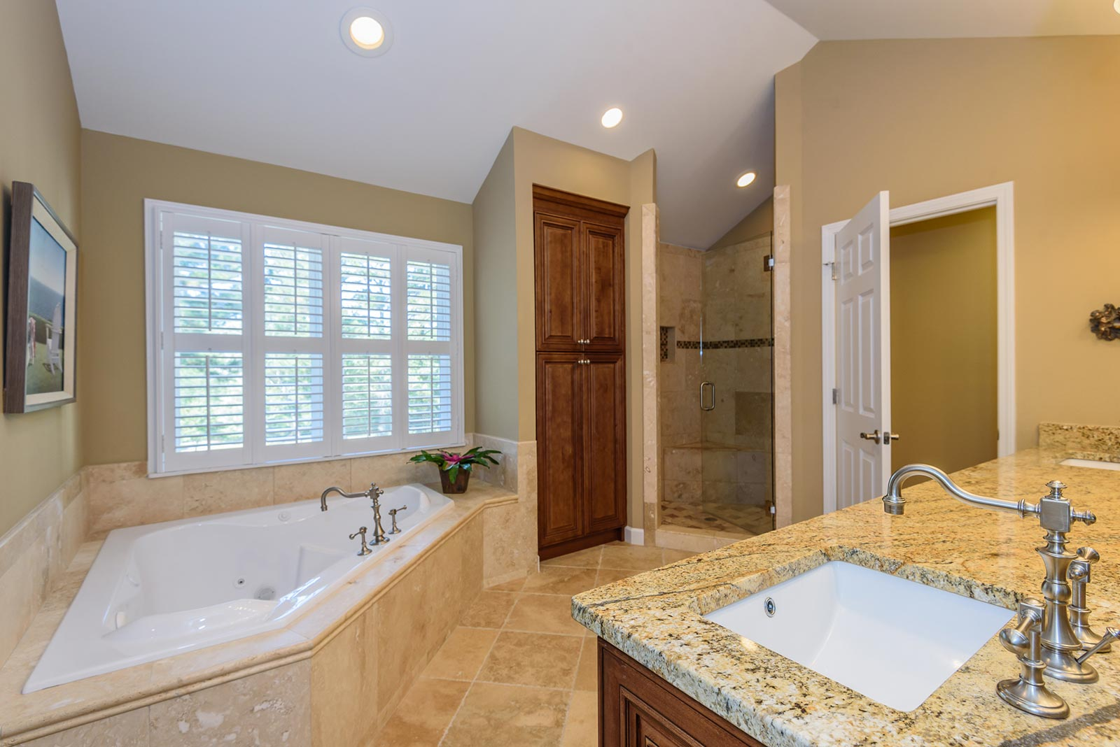 Master bathroom with garden tub