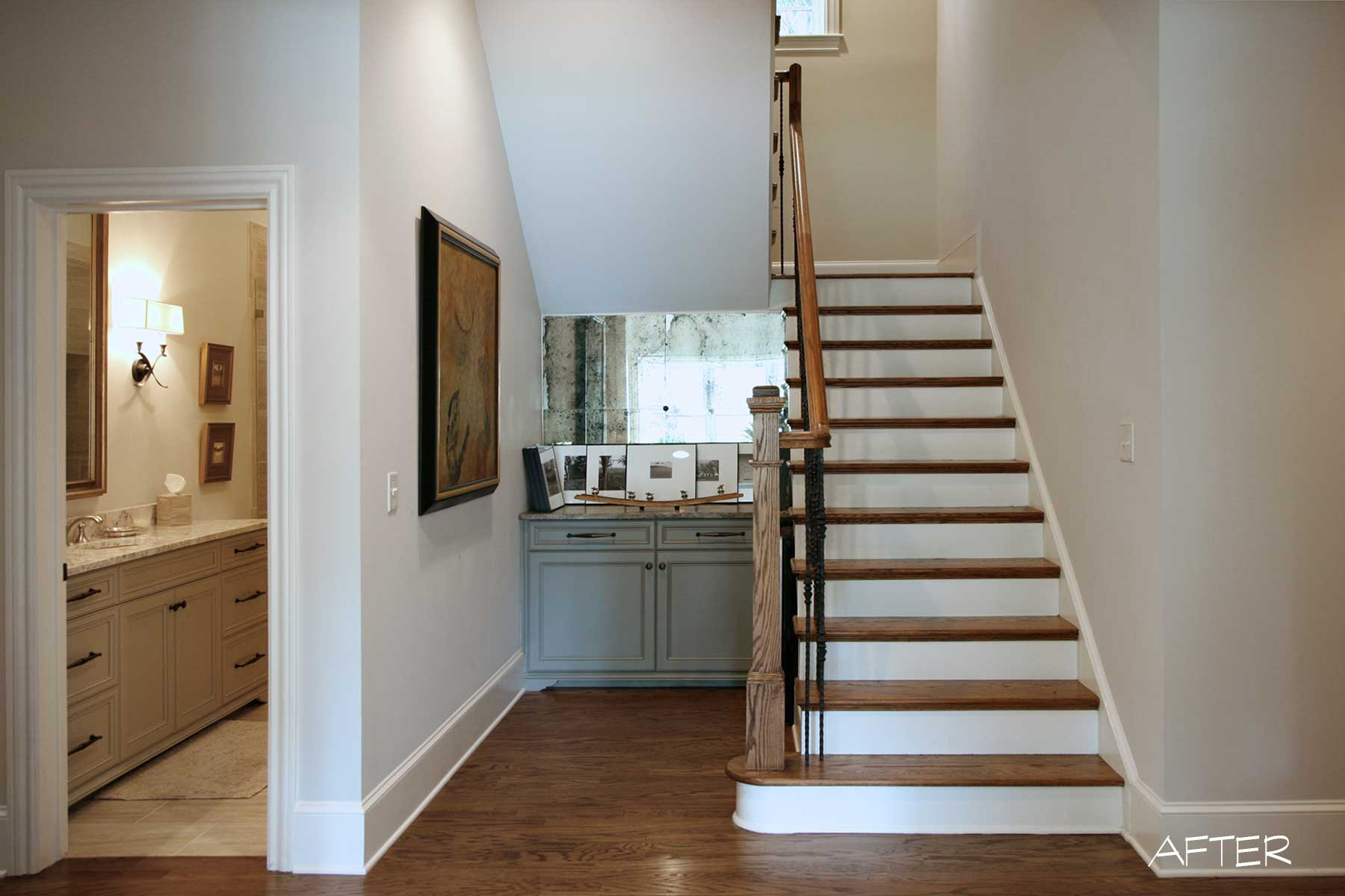 Stairs to basement after remodeling