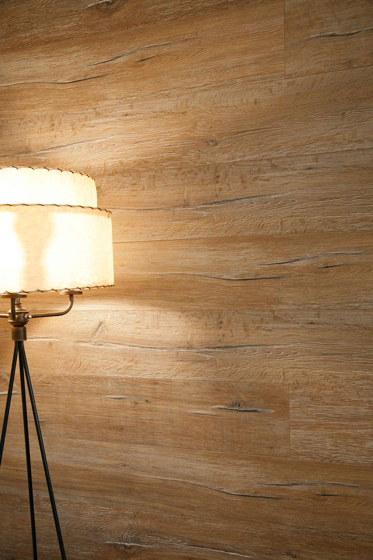 Wood covering on basement wall