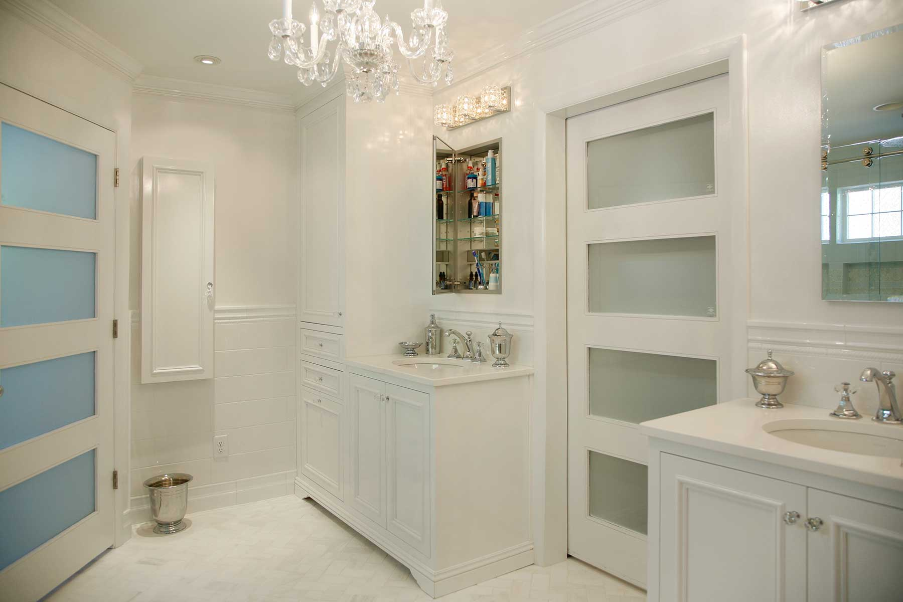 Newly remodeled bathroom vanities