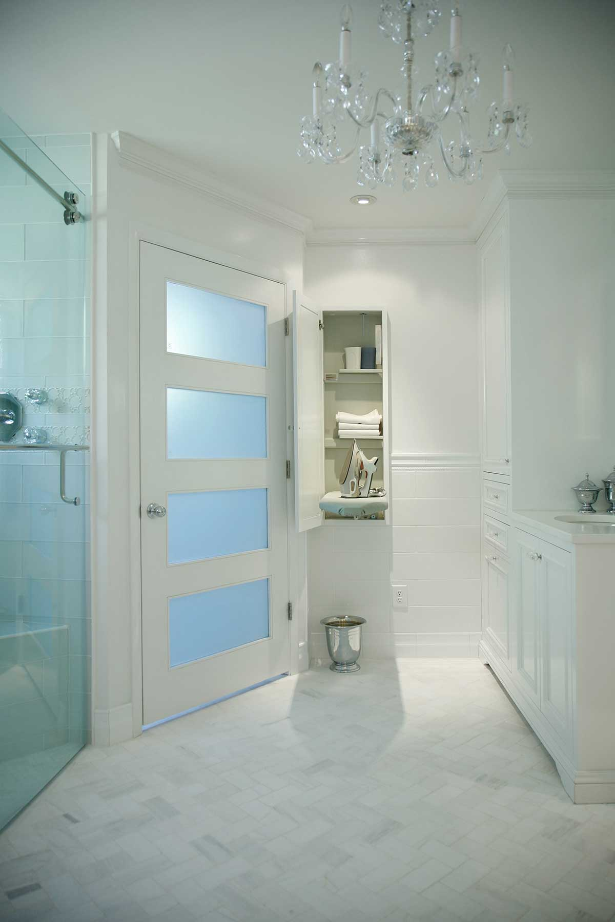 View of bathroom cabinets