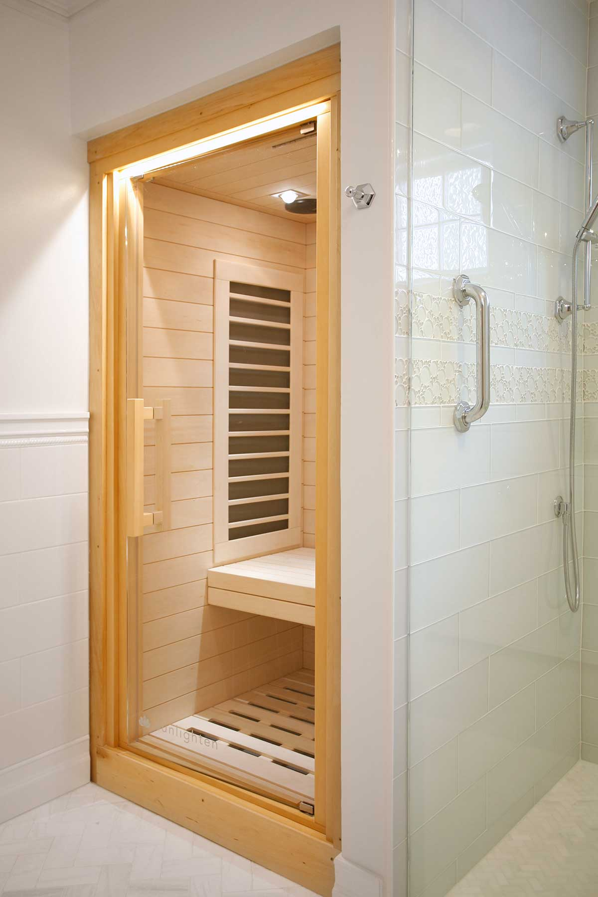Sauna room in bathroom