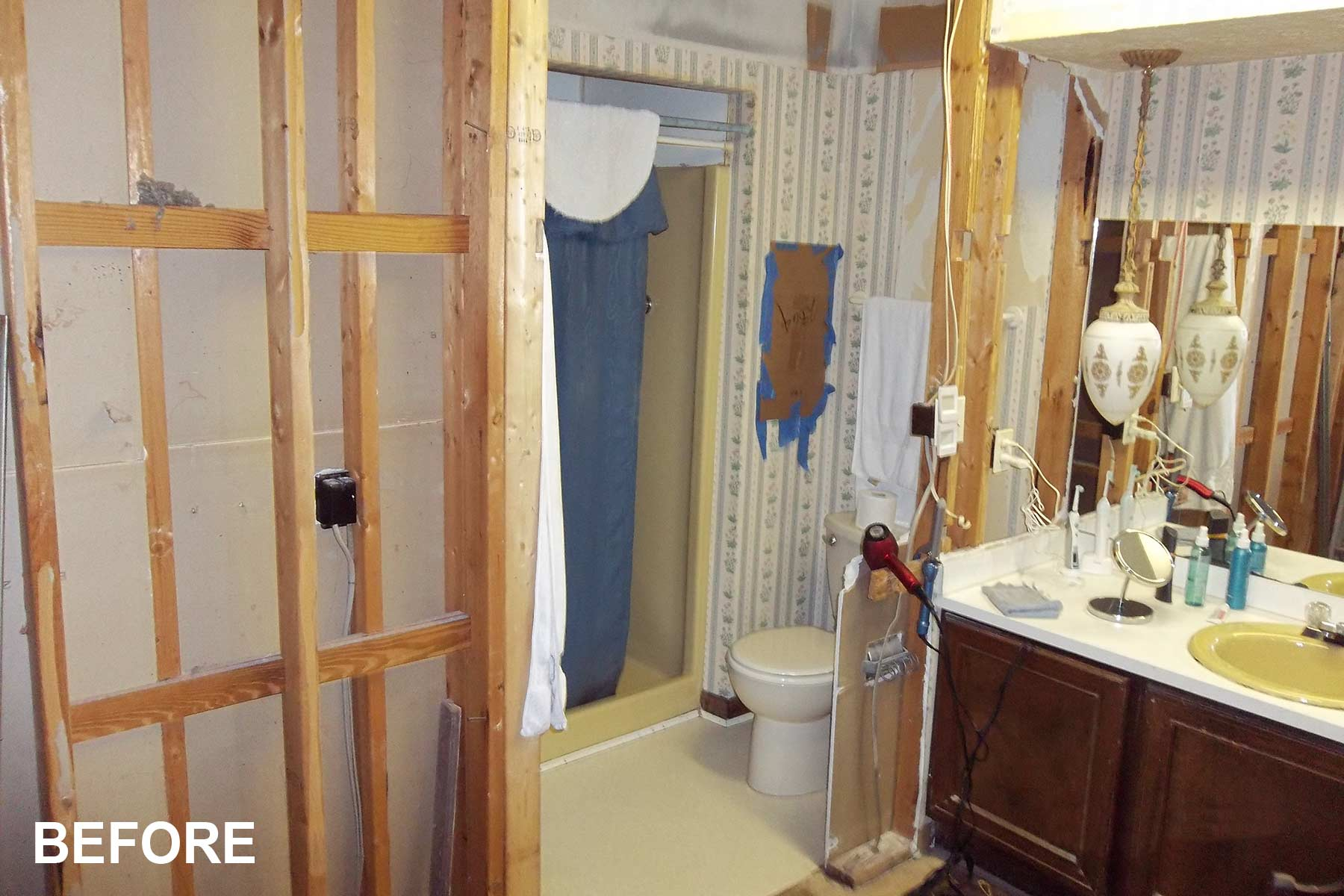 Before bathroom was remodeled