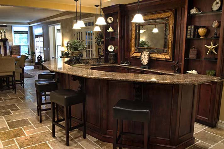 Basement bars are the perfect place for entertaining guests.