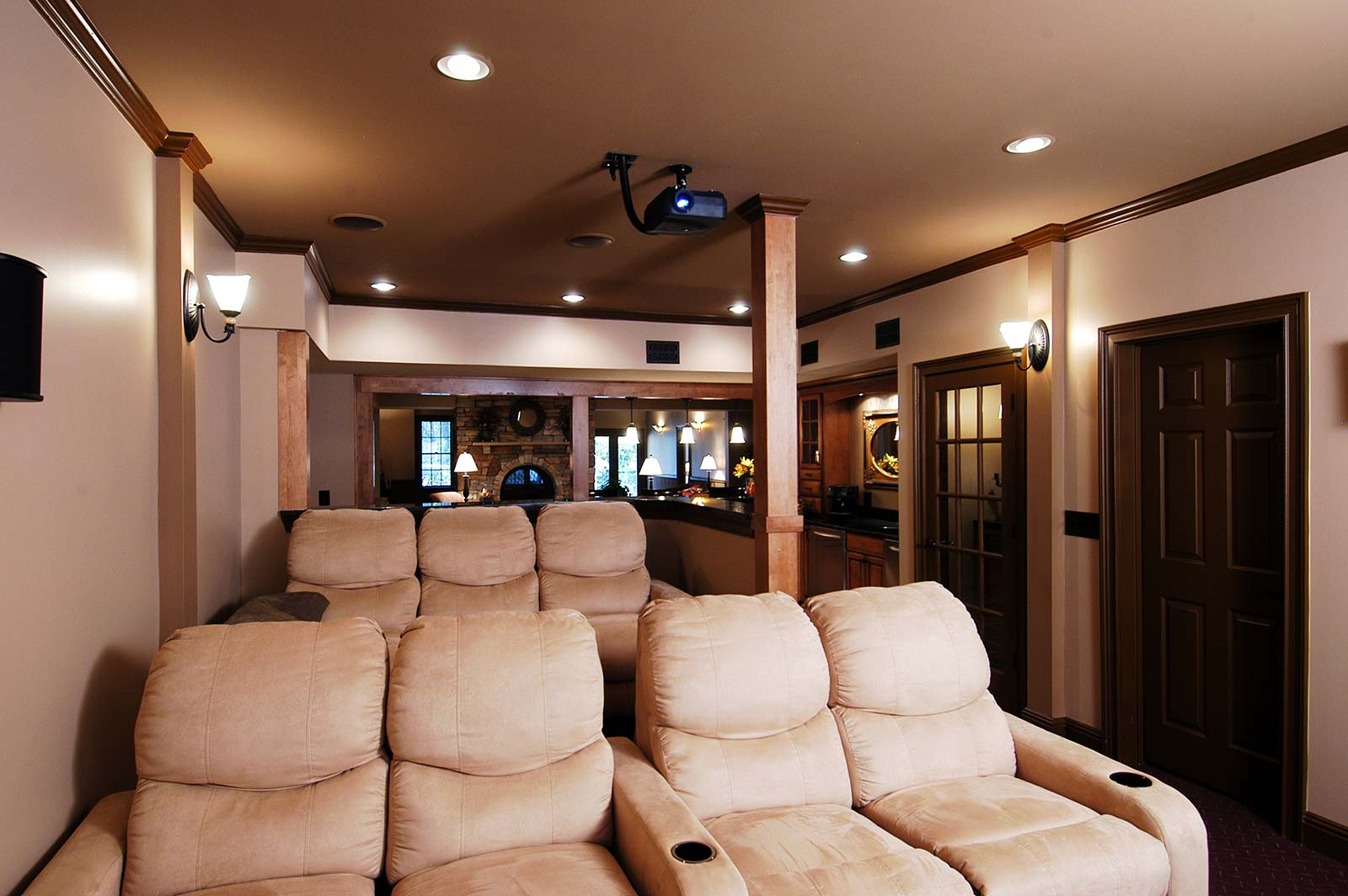 View of home theater seating