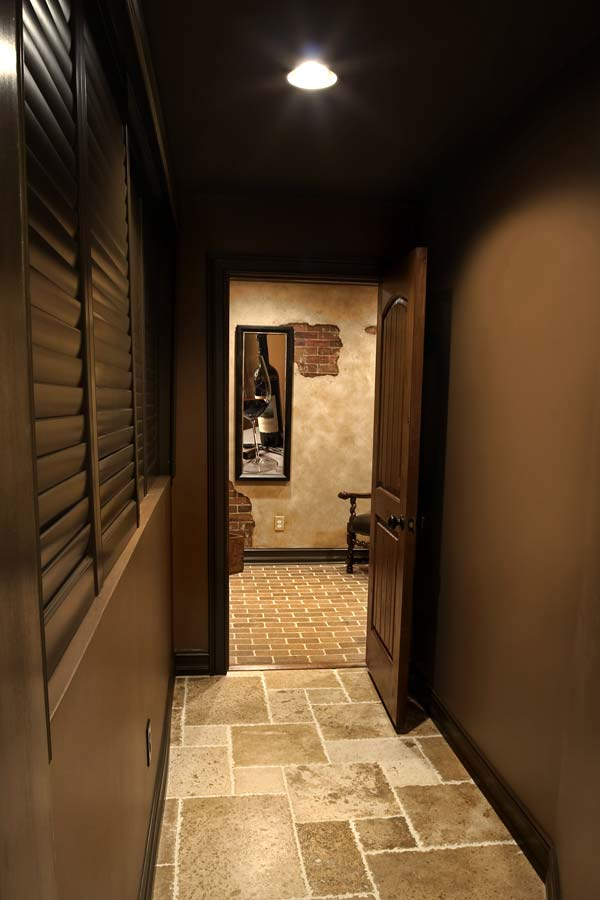 Hallway to home theater