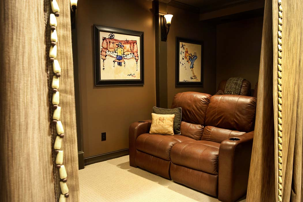 Home theater through main doorway