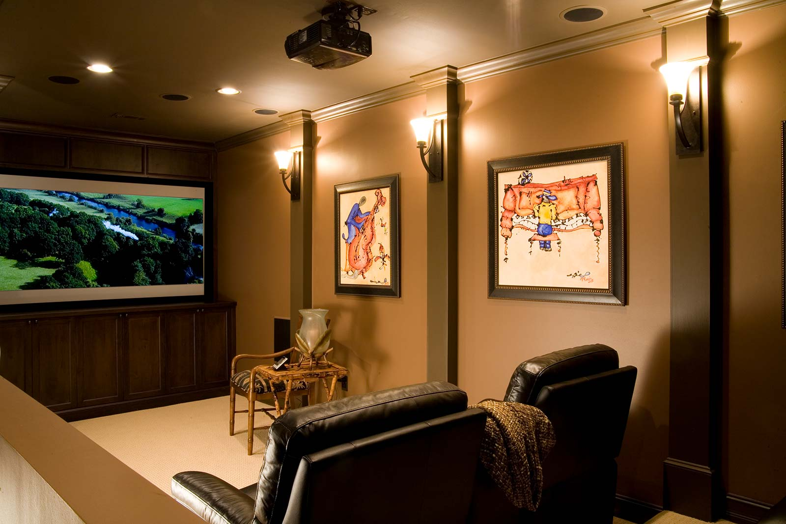 View into home theater