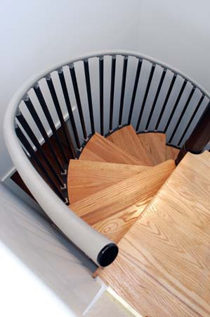 Spiral staircase view from above