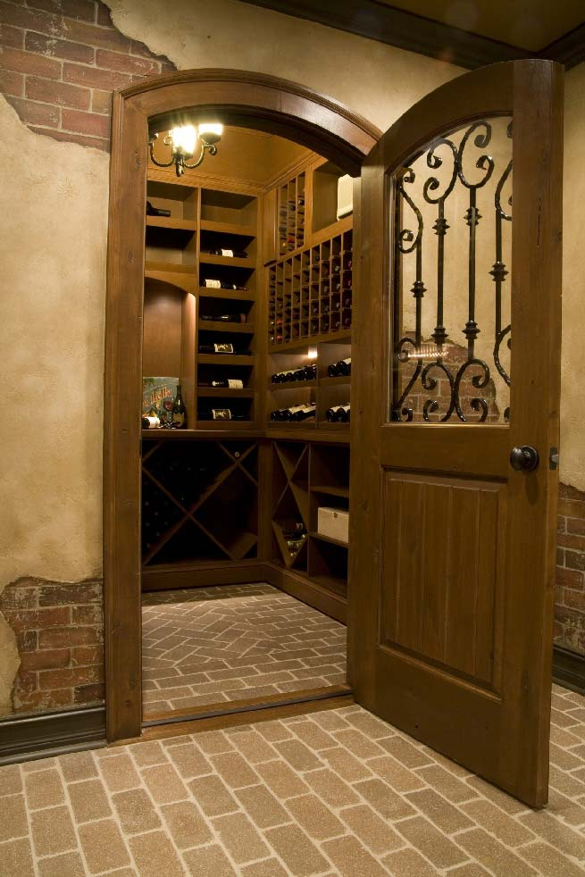 View into wine cellar