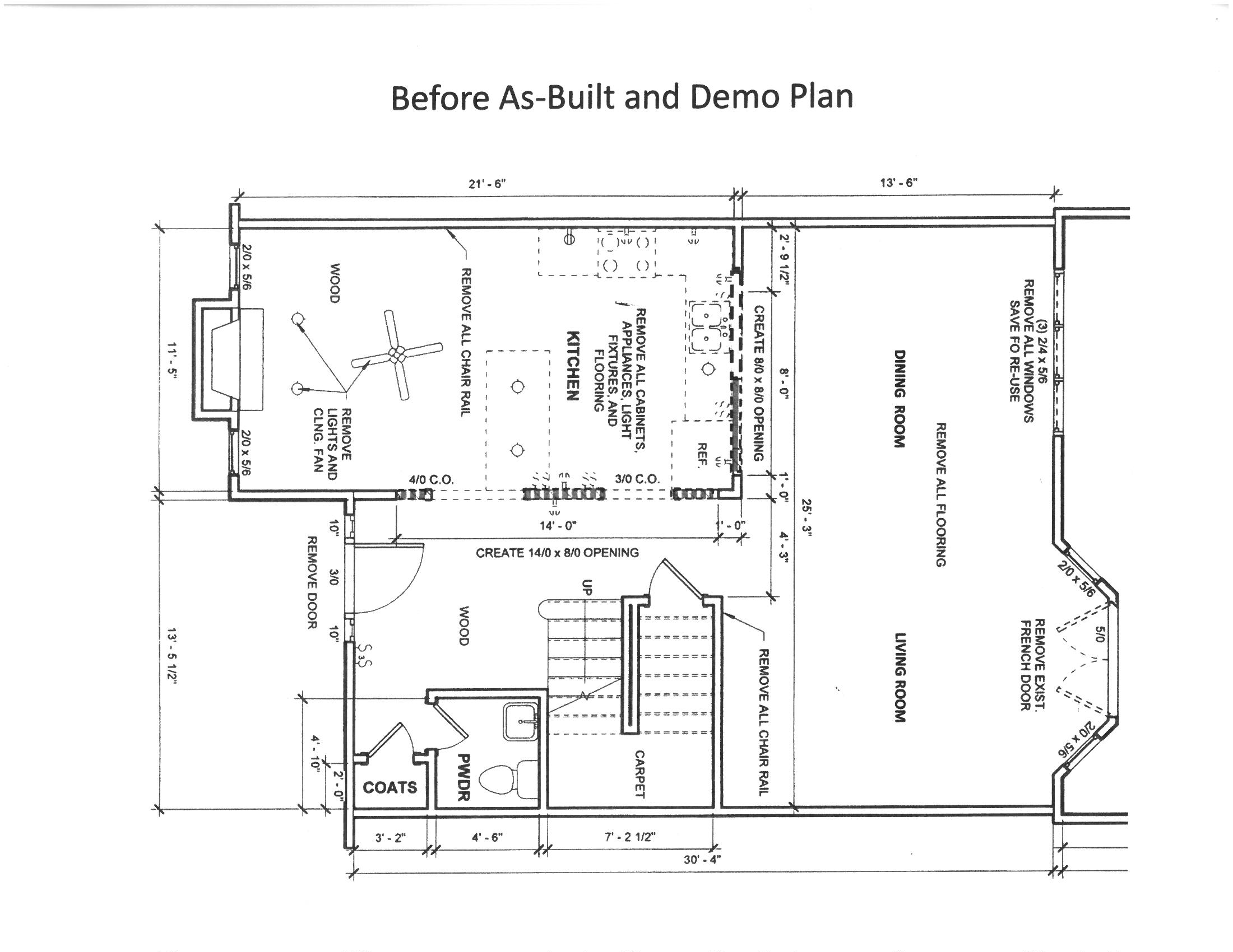 Floor plan before remodeling