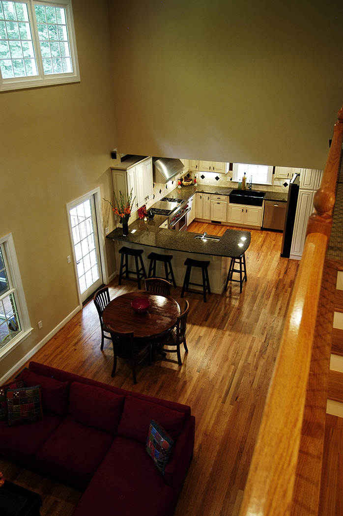 View into kitchen from second floor