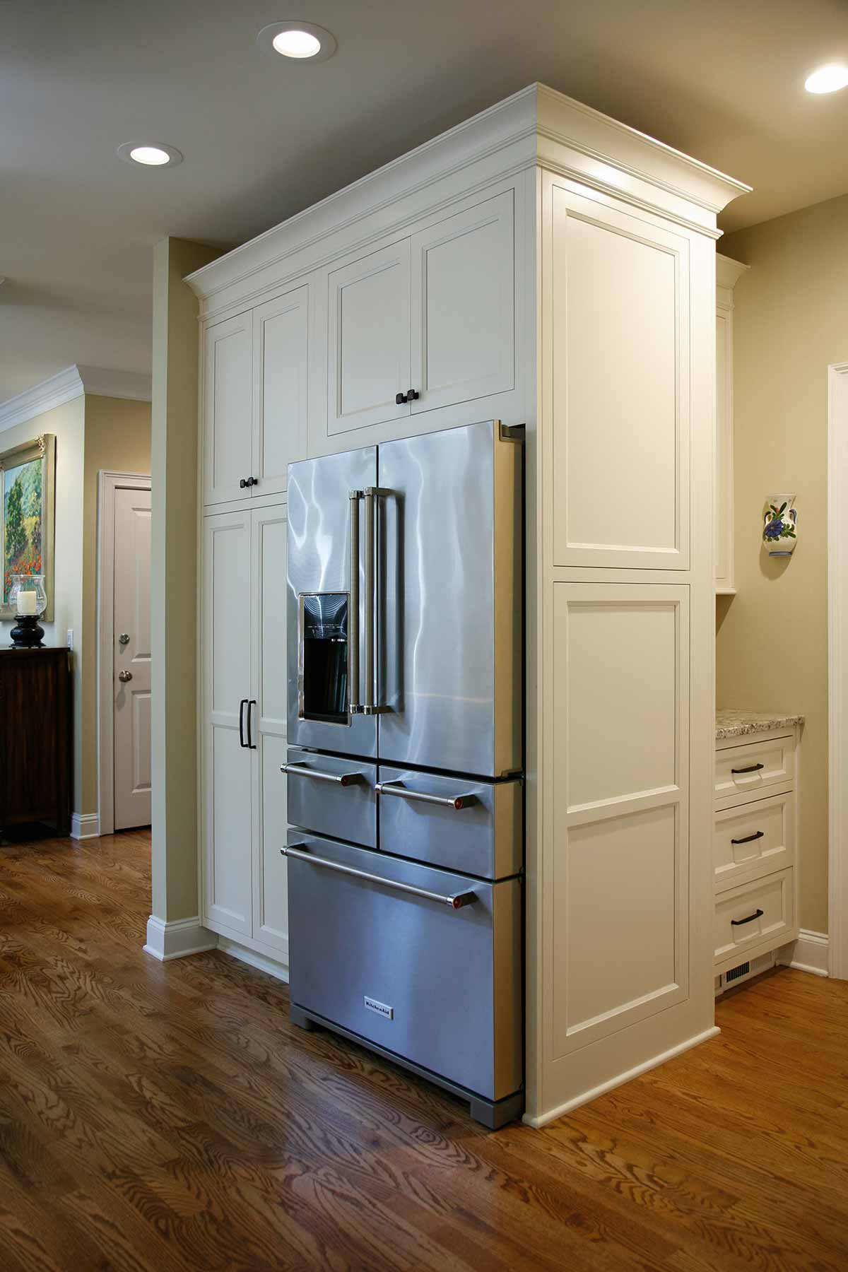 Relocated refrigerator