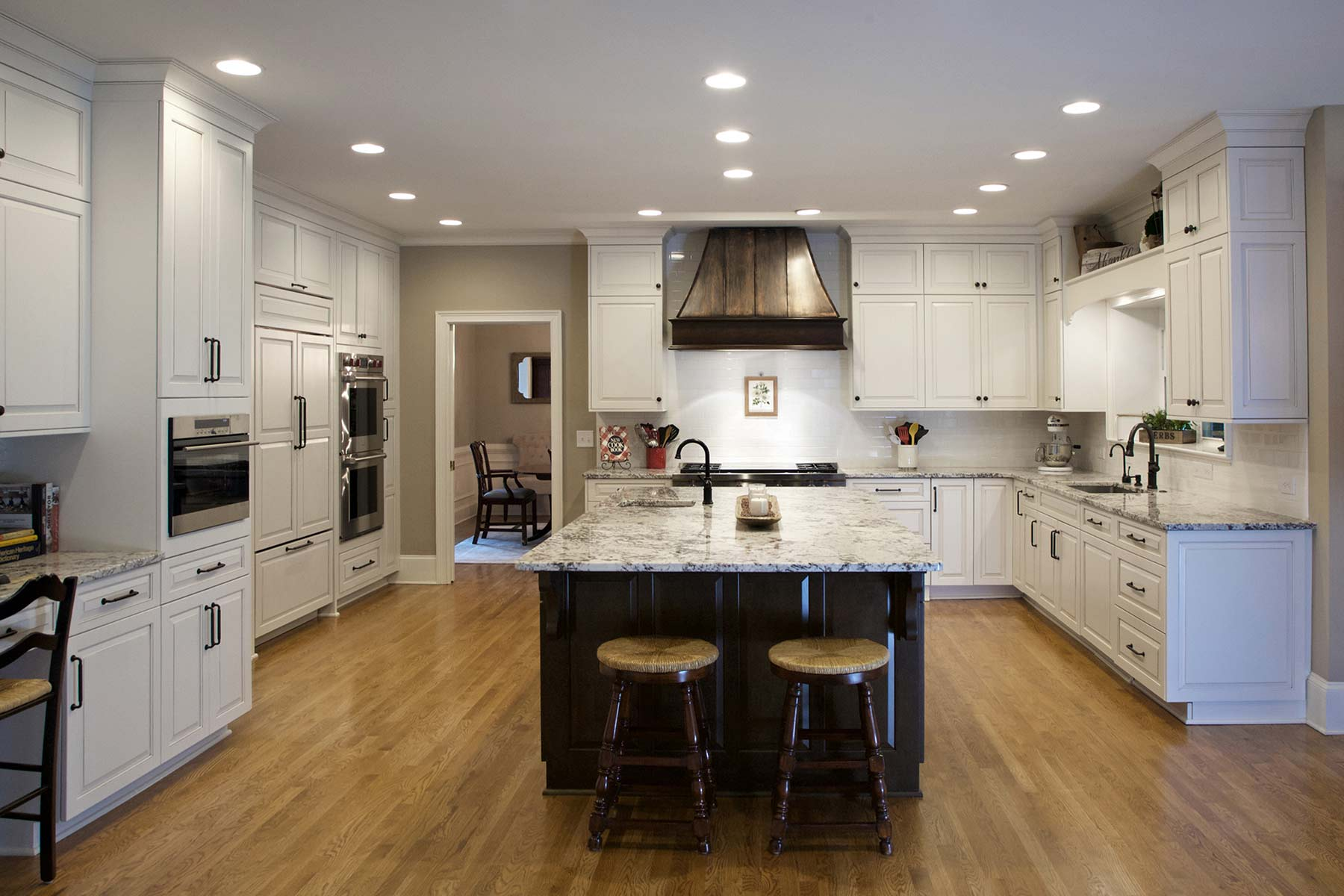 Remodeled kitchen in Roswell, GA with a fully-functional island