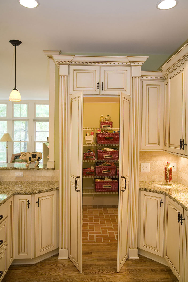 A large pantry was added in this kitchen remodel