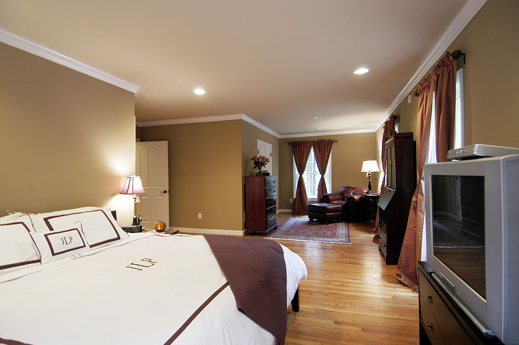 Large master bedroom was added to home
