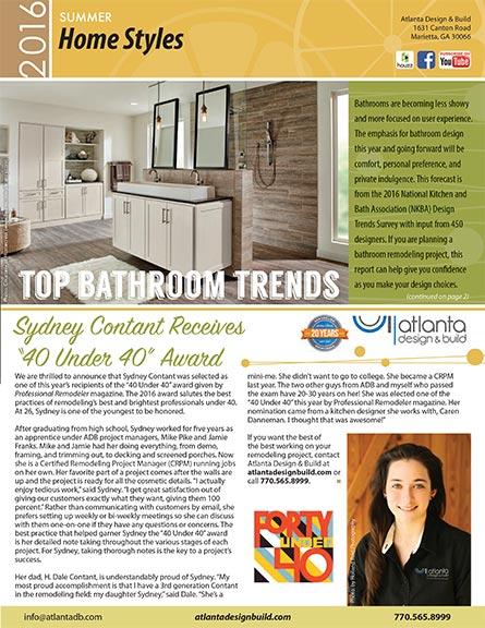 Marietta Remodeling Newsletter | AD&B